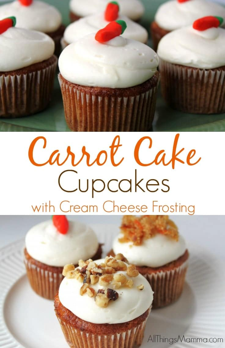 Carrot Cake Cupcakes With Cream Cheese Frosting All