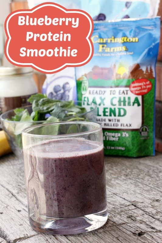 Blueberry Protein Smoothie - perfect to power-up your day!