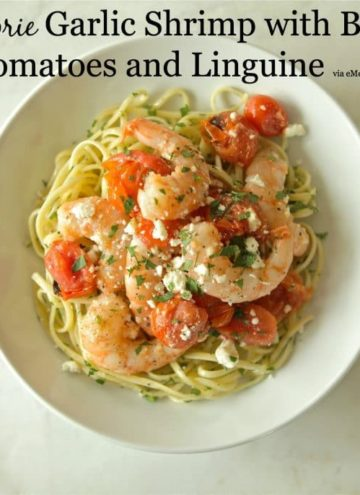 Garlic Shrimp with Blistered Tomatoes and Linguine