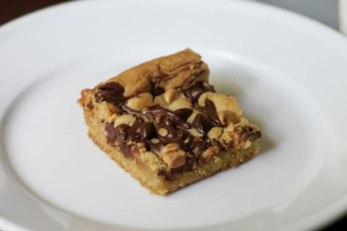 Peanut Butter & Chocolate Chip Marble Bars - A simple and delicious bar cookie recipe that is perfect for sharing or keeping to yourself!