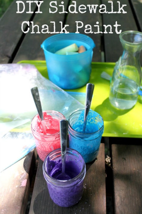 DIY Sidewalk Chalk Paint with only two ingredients!