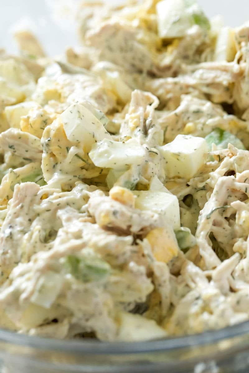 Old Fashioned Chicken Salad, up close