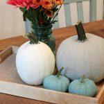 DIY Chalk Painted Pumpkins