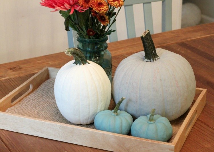 DIY Chalk Painted Pumpkins are so easy!