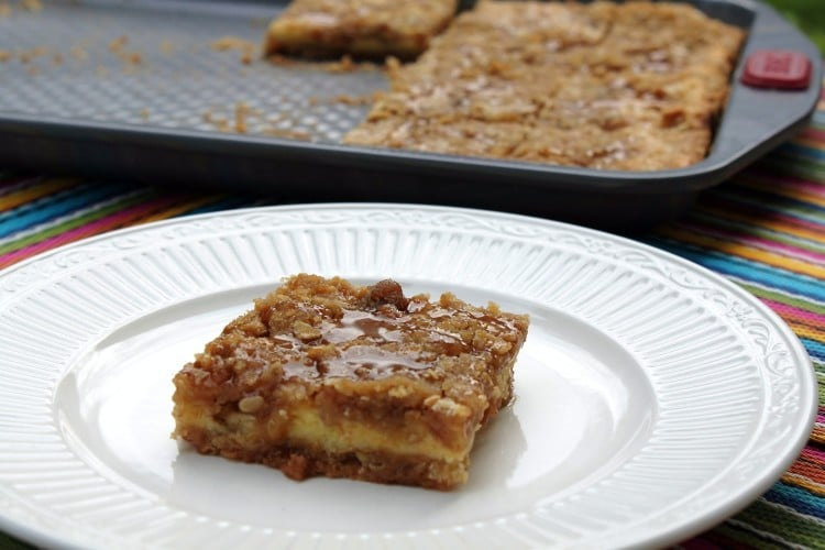 Almost Heaven Caramel Apple Raisin Cheese Cake Cookie Bars
