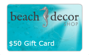 $50 Beach Decor Shop Gift Card Giveaway