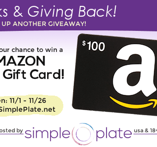 Thanks & Giving Back – $100 Amazon Gift Card Giveaway!