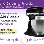 Thanks & Giving Back - KitchenAid Classic Stand Mixer Giveaway!