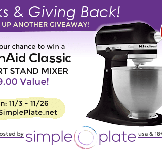 Thanks & Giving Back – KitchenAid Classic Stand Mixer Giveaway!