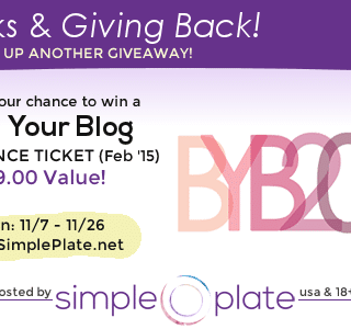 Thanks & Giving Back – Build Your Blog Conference Ticket!