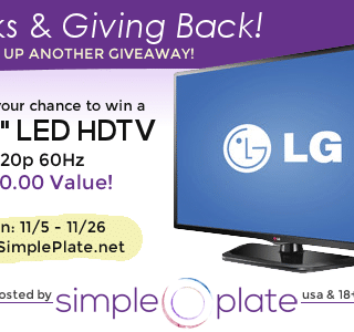 Thanks & Giving Back – LG32″ LED HDTV Giveaway!