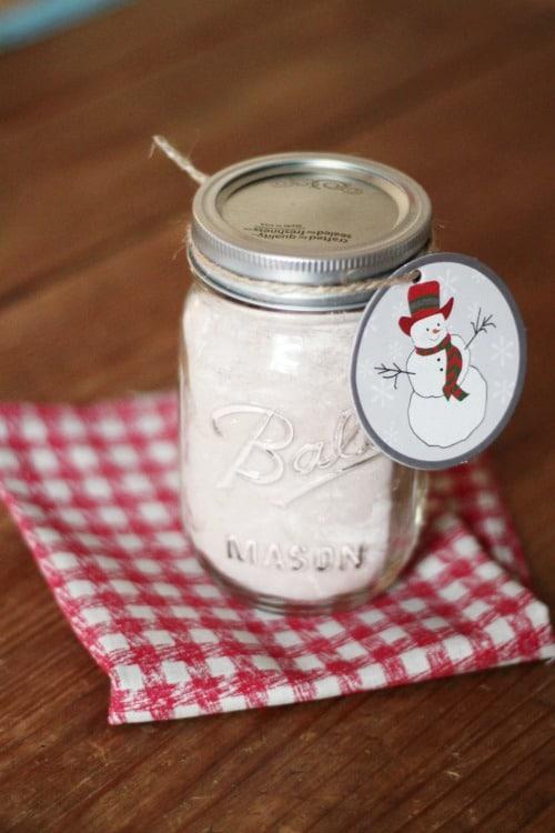 Hot Cocoa in Mason Jar Gifts