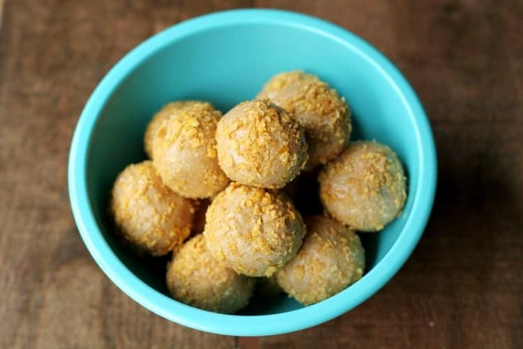 How to make peanut butter balls without powdered sugar