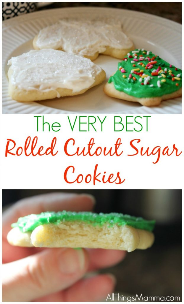 The BEST Easy Cutout Sugar Cookie Recipe with The Perfect Buttercream Icing. You won't need another recipe after trying this one!