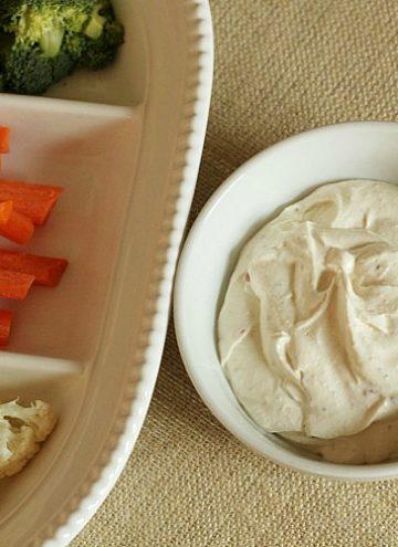 Easy 3-Ingredient Veggie Dip