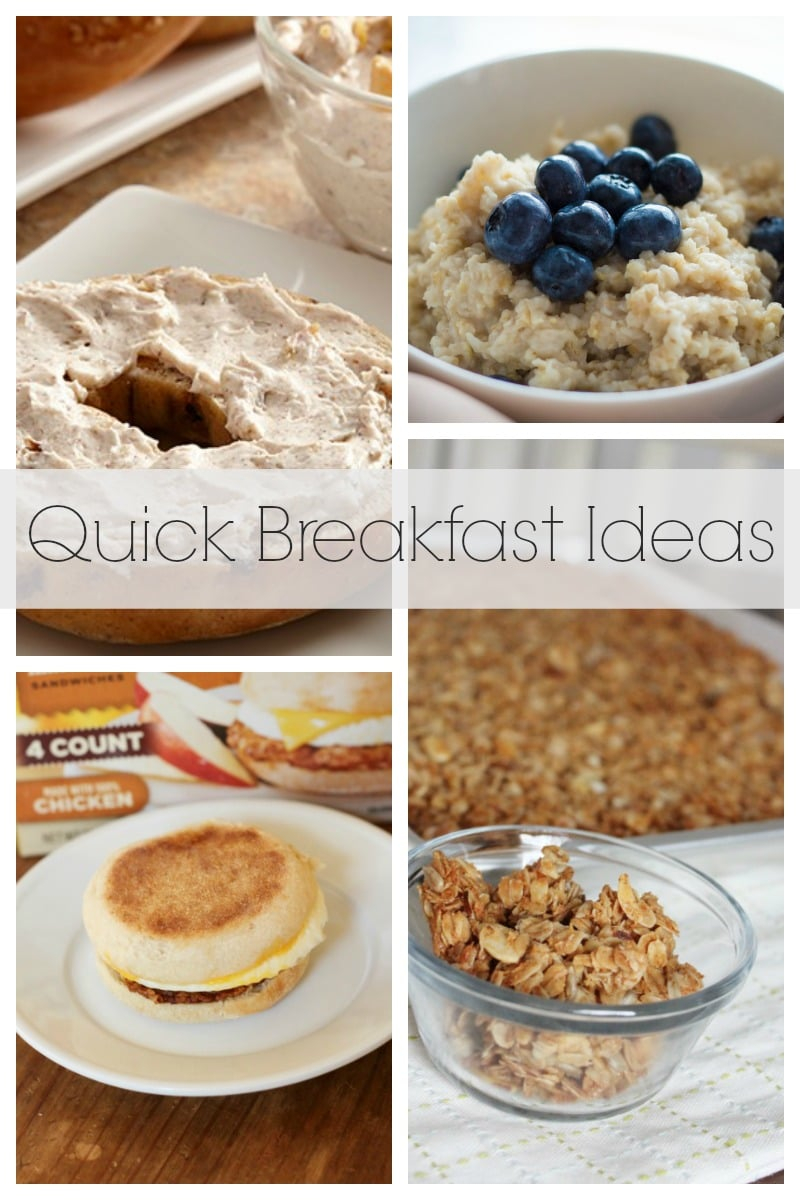 Quick Breakfast Ideas to get you out the door in no time!