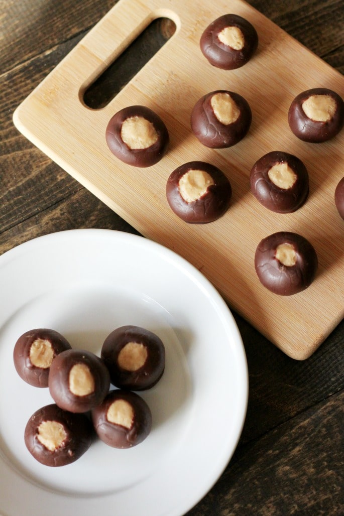 Peanut Butter & Chocolate Buckeyes
