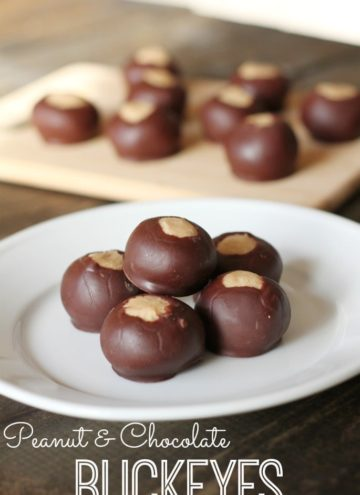 Peanut Butter and Chocolate Buckeyes