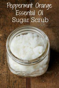 Peppermint Orange Essential Oil Sugar Scrub