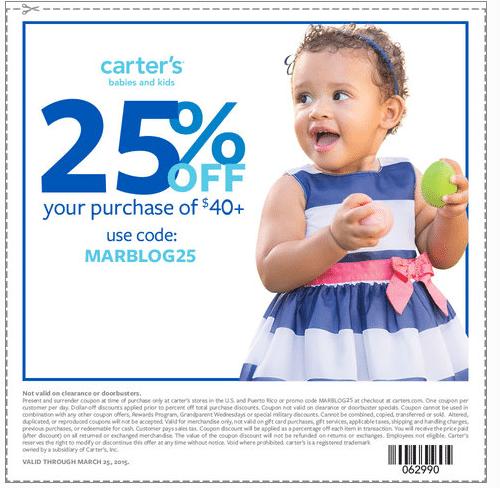 Carter's 25% OFF Coupon