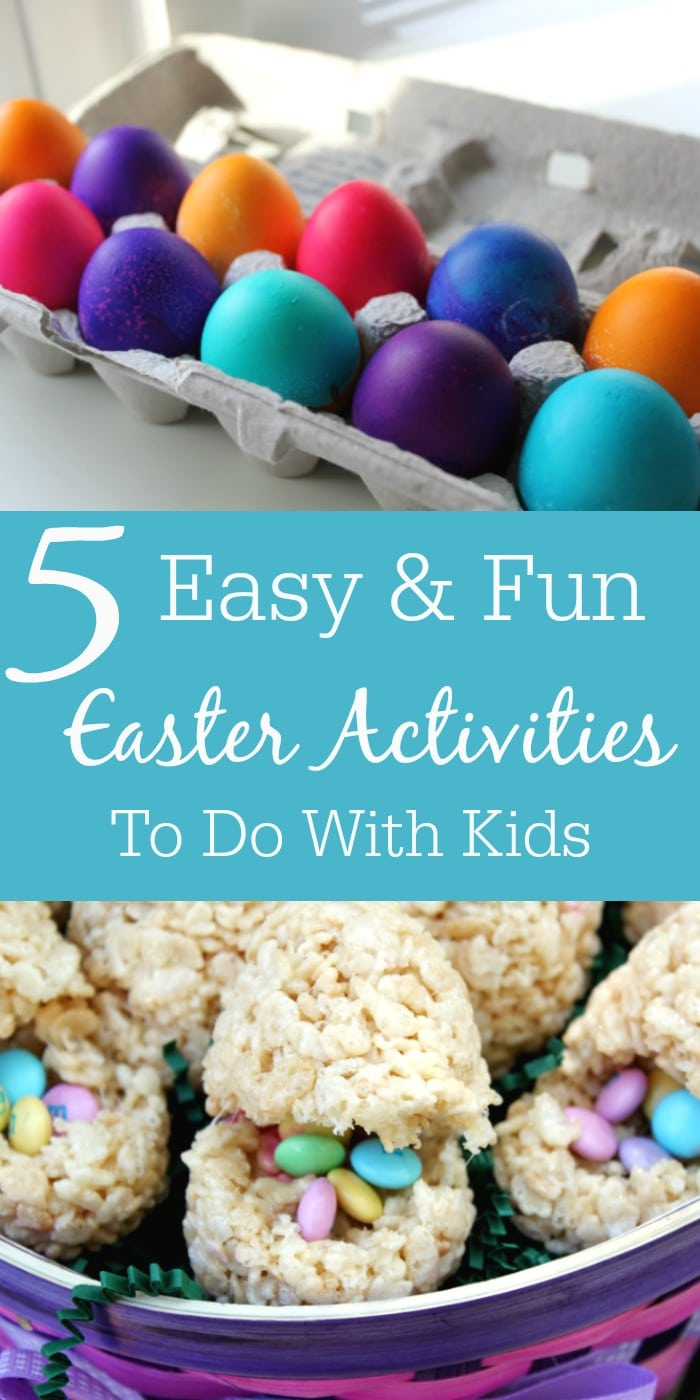 For easy and fun Easter Activites for kids, check out our top 5 Easy and Fun Easter Activites to do at home - from dying Easter Eggs to baking Cupcakes!