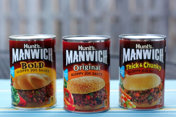 Hunt Manwich - original, thick and chunky and bold