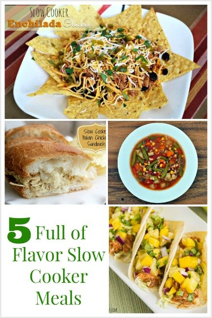 5 Full of Flavor Slow Cooker meals that you're sure to love!