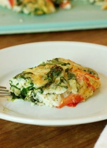 Eating healthy and delicious with this Egg White Vegetable Frittata!