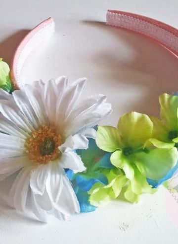 DIY Easy Girl's Floral Headband