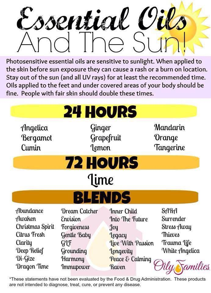 Keep your family safe in the sun this summer by knowing which essential oils are photosensitive.