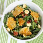 Kale Salad with Cheddar Cheese Crisps