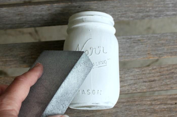 July 4th Mason Jar Centerpiece