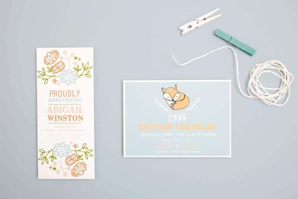 Basic Invite Birth Announcement