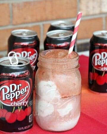 Dr Pepper Cherry Float