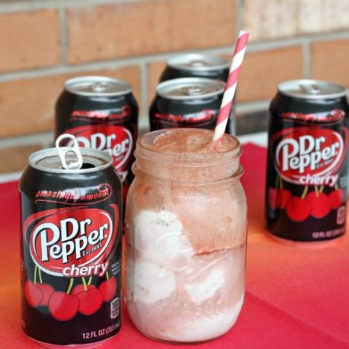 Dr Pepper Cherry Float