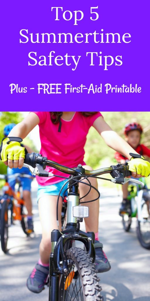 Accidents can happen. Be prepared with these Top 5 Summertime Travel Safety Tips! PLUS print out a FREE First-Aid Printable!