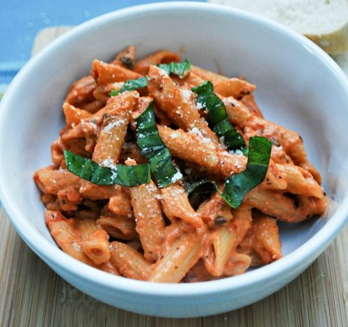 Creamy Tomato and Basil Penne Pasta