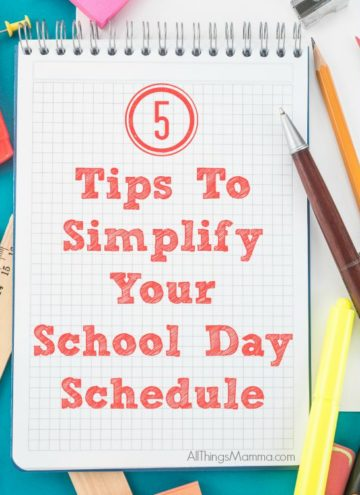 5 Tips to Simplify Your School Day Schedule that really helps!