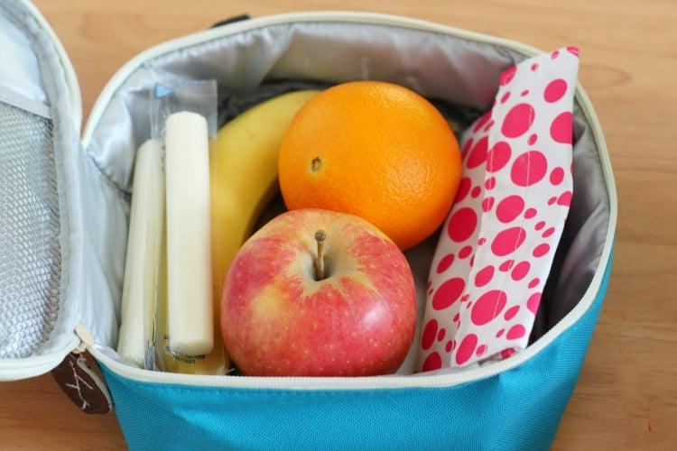 Healthy Snacks - packed bag