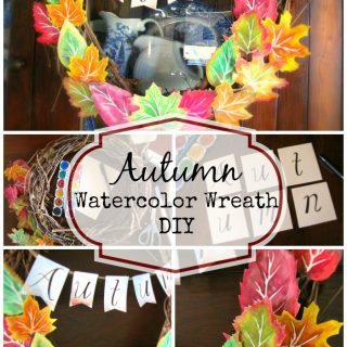 How To Make A Fall Wreath with DIY Watercolor Leaves