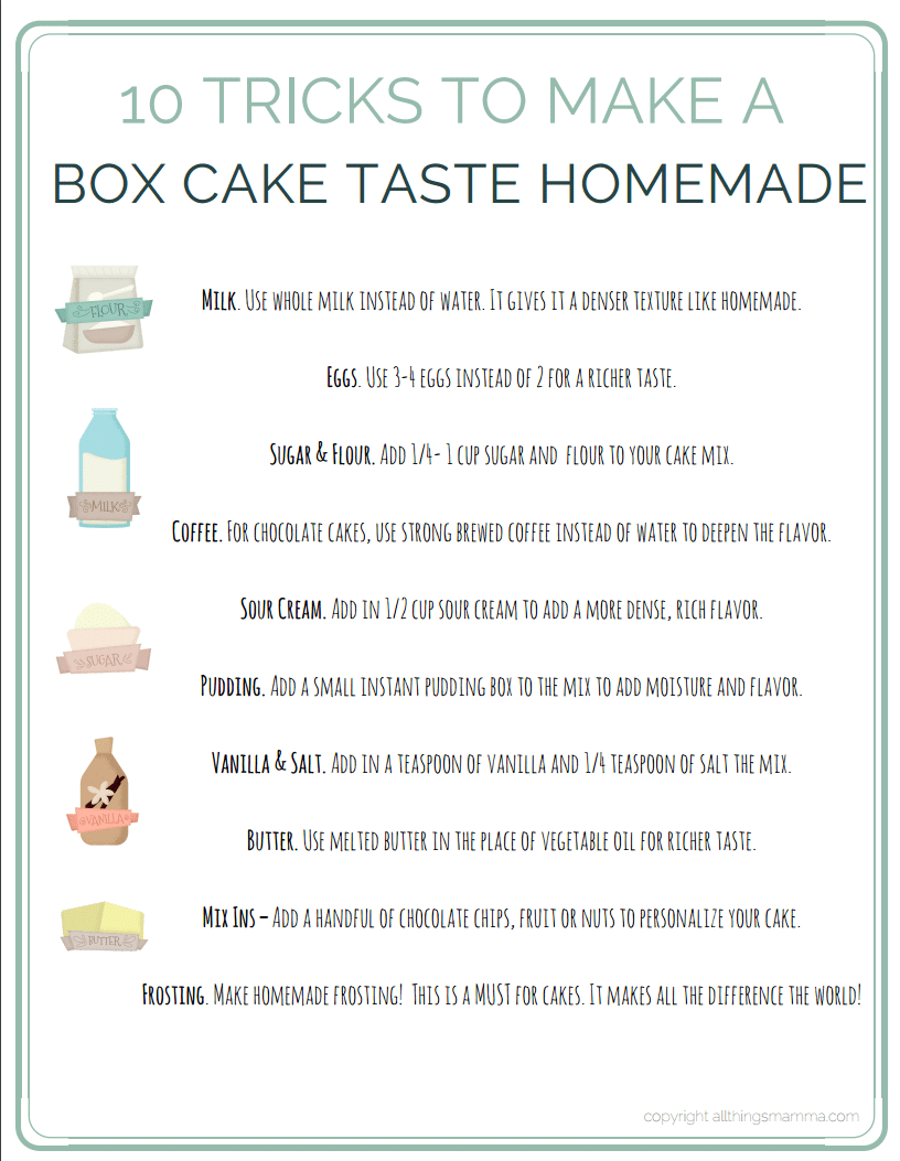 Make A Box Cake Taste Like Homemade