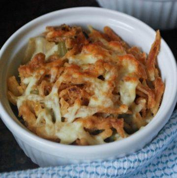 Cheesy Mushroom and Onion Green Bean Casserole