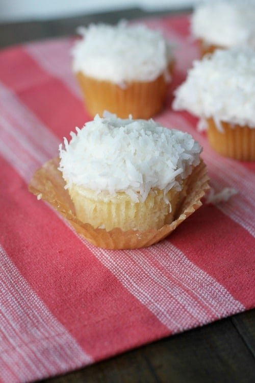 Coconut Cream Cupcakes - made from a box mix!