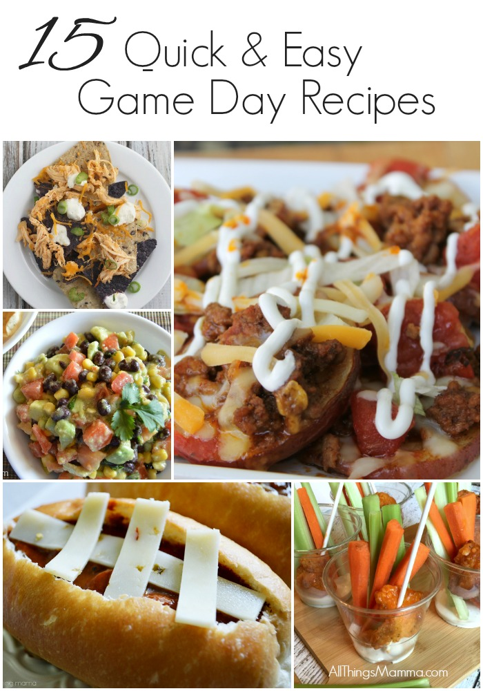 15 quick easy game day recipes for Easy tailgating recipes for a crowd
