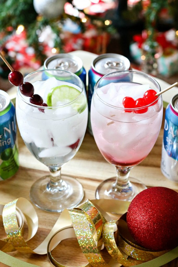 Sparkling Cranberry Lime Holiday Drinks
