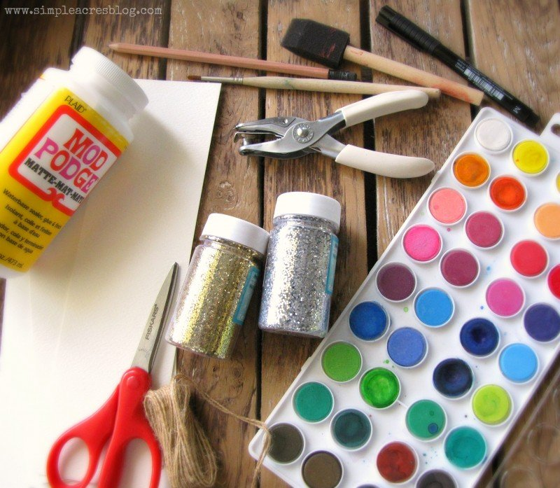glitter gift tag products