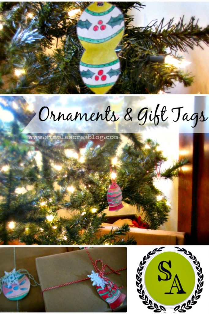 How to DIY Watercolor Ornaments and Gift Tags - step by step!