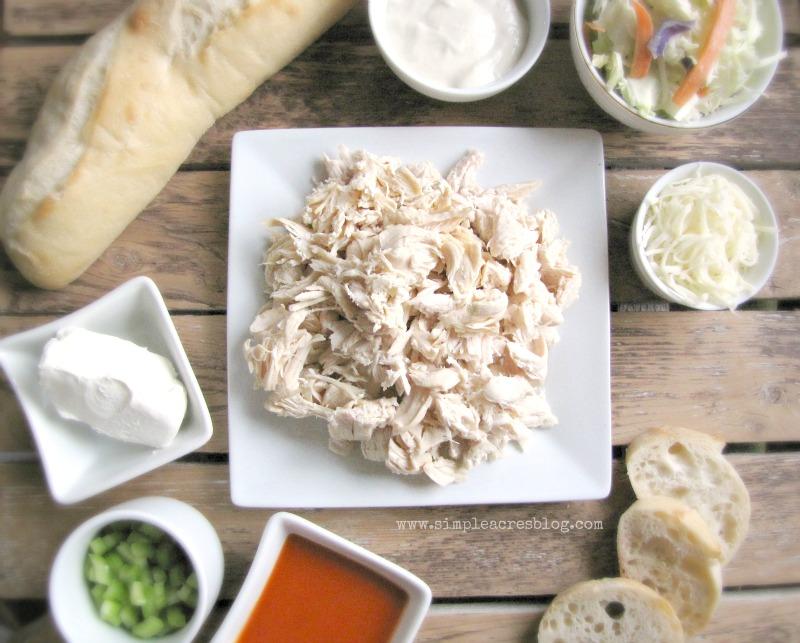 Buffalo Chicken Slider Ingredients