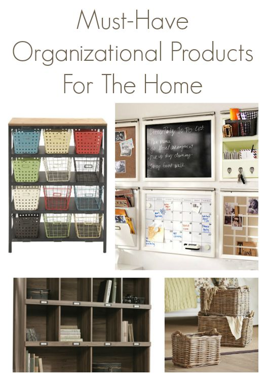 Must Have Organizational Products for The Home