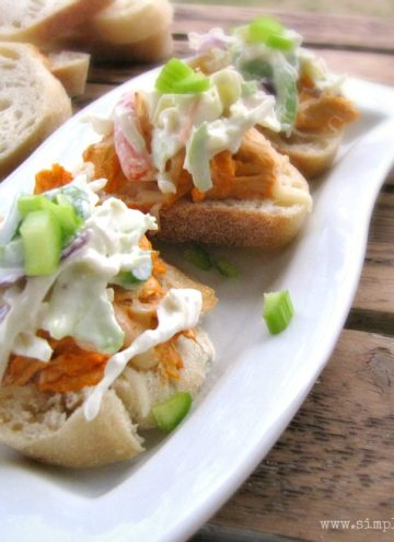 Buffalo Chicken Sliders